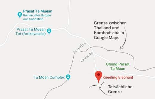 falsche grenze google maps